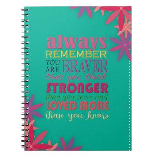 -螺線形であることを常に覚えて下さい ノートブック
