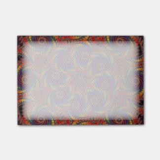 螺線形のタコのサイケデリックな虹のフラクタルの芸術 ポストイット