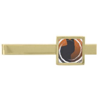 螺線形のデザインのハロウィンの黒猫 ゴールド タイバー