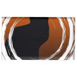 螺線形のデザインのハロウィンの黒猫 テーブルカードホルダー