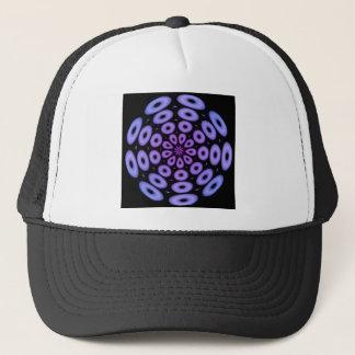 螺線形のデザインの紫色の円 キャップ
