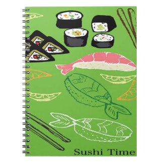螺線形のノート寿司の時間! ノートブック