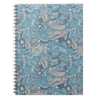 螺線形の写真のノート ノートブック