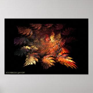 螺線形の森林(秋) ポスター