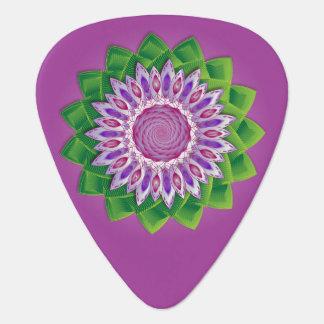 螺線形の花の曼荼羅 ギターピック
