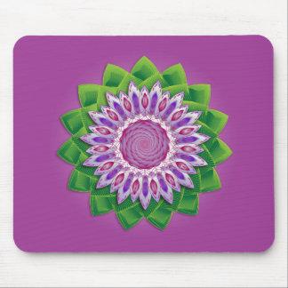 螺線形の花の曼荼羅 マウスパッド