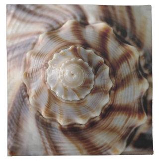 螺線形の貝 ナプキンクロス