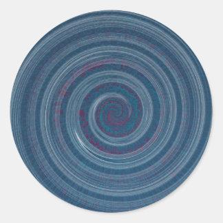 螺線形の青催眠薬 ラウンドシール