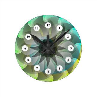 螺線形の鮫(クラシックな顔)の時計 ラウンド壁時計