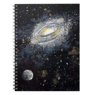 螺線形ノート(宇宙の芸術)の~のための渦状銀河 ノートブック