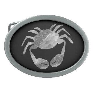 蟹座のカニの(占星術の)十二宮図のベルトの留め金 卵形バックル