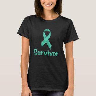 蟹座の生存者のティール(緑がかった色) Tシャツ