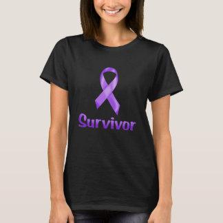 蟹座の生存者の紫色 Tシャツ