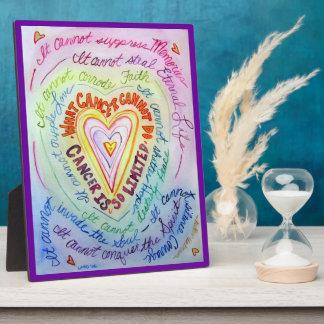 蟹座の虹のハートの芸術の絵画のプラク フォトプラーク