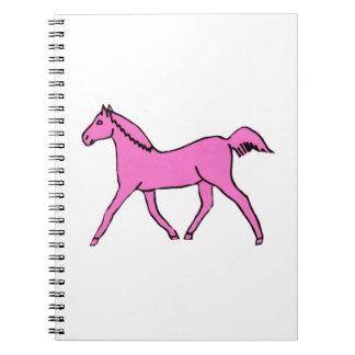 蟹座の認識度のピンクの馬のノート ノートブック