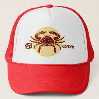 蟹座の(占星術の)十二宮図のルビー色デザイナーモダンなトラック運転手の帽子 キャップ
