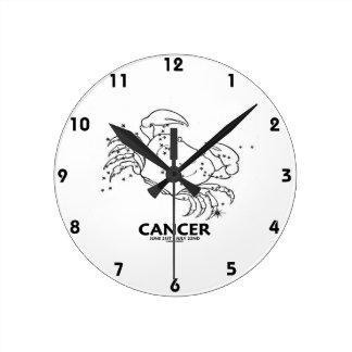 蟹座カニ(22日6月21日- 7月) ラウンド壁時計