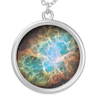 蟹星雲のネックレス シルバープレートネックレス