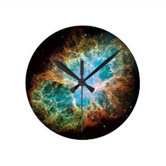 蟹星雲の時計 ラウンド壁時計
