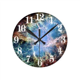 蟹星雲の超新星NASA ラウンド壁時計