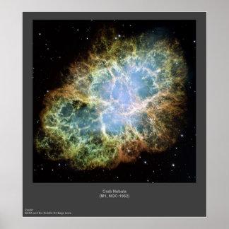蟹星雲M1のNGC-1952ポスター ポスター
