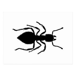 蟻のシルエット ポストカード