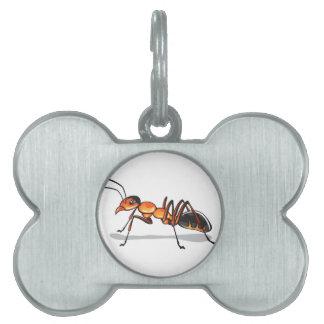 蟻のベクトル ペットネームタグ