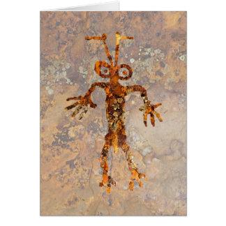 蟻の人の岩石彫刻 カード