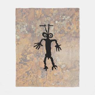 蟻の人の岩石彫刻 フリースブランケット
