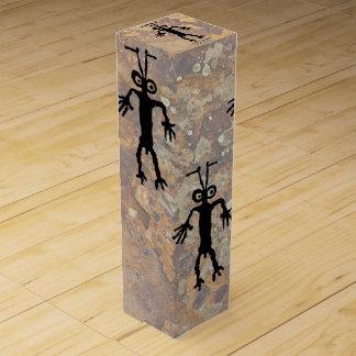 蟻の人の岩石彫刻 ワインギフトボックス