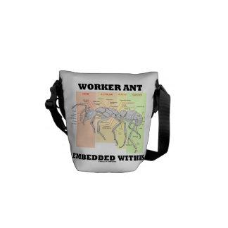 蟻の労働者の形態の内で埋め込まれる労働者の蟻 メッセンジャーバッグ
