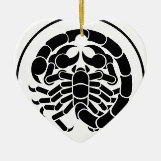 蠍の蠍座の(占星術の)十二宮図の占星術の占星術の印 セラミックオーナメント