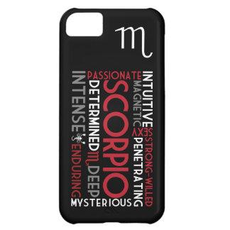 蠍座の占星術の単語のコラージュのiPhone 5の場合 iPhone5Cケース