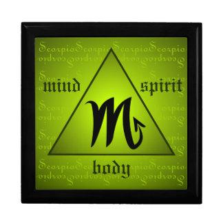蠍座の占星術の心の体の精神の三角形の緑 ギフトボックス