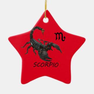 蠍座の占星術 陶器製星型オーナメント