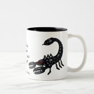 蠍座の印のおもしろマグカップ ツートーンマグカップ