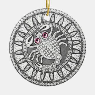 蠍座の硬貨の陶磁器のオーナメント セラミックオーナメント