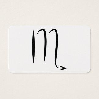 蠍座の蠍のギリシャの占星術の(占星術の)十二宮図の占星術 名刺
