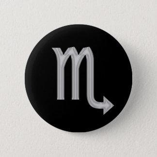 蠍座の蠍の(占星術の)十二宮図ボタン 5.7CM 丸型バッジ