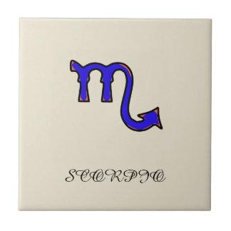 蠍座の記号 タイル