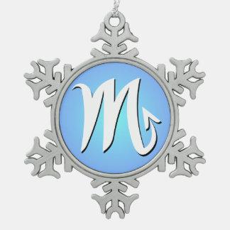 蠍座の(占星術の)十二宮図のオーナメント スノーフレークピューターオーナメント