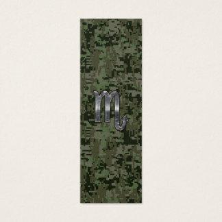 蠍座の(占星術の)十二宮図の印の森林デジタル迷彩柄 スキニー名刺