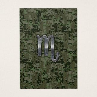 蠍座の(占星術の)十二宮図の印の森林デジタル迷彩柄 名刺
