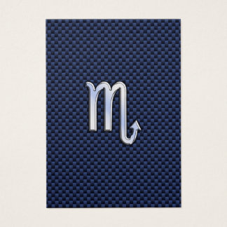 蠍座の(占星術の)十二宮図の印の濃紺カーボン繊維のプリント 名刺