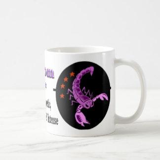 蠍座の(占星術の)十二宮図の母の日のコーヒー・マグ コーヒーマグカップ
