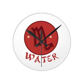 蠍座水 ラウンド壁時計