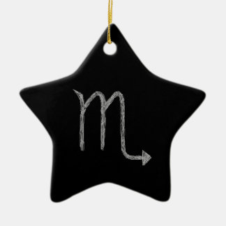 蠍座。 (占星術の)十二宮図の占星術の印。 黒 セラミックオーナメント