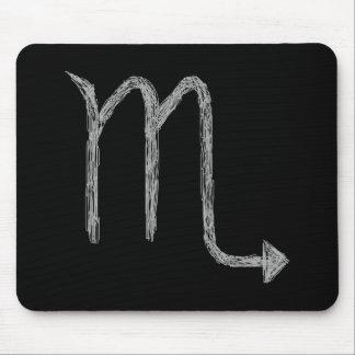 蠍座。 (占星術の)十二宮図の占星術の印。 黒 マウスパッド
