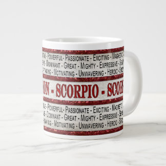 蠍座-蠍COFFEE/SOUP/JUMBOのマグ-文字 ジャンボコーヒーマグカップ