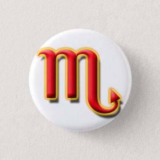 蠍座#1ボタン 3.2CM 丸型バッジ